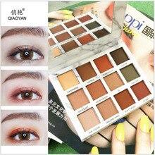 Professionell Pro Jordfärg 12 Färger Smink Makeup Kosmetisk Glitter Ögonskugga Pallete Ögonbryn Naturlig Matte Shimmer