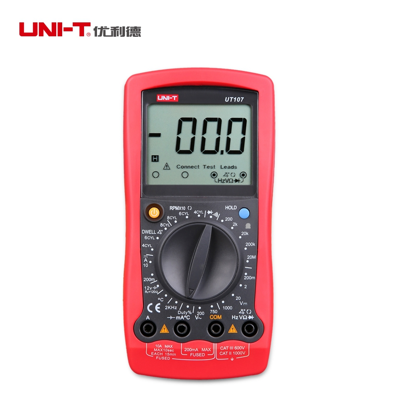 ФОТО UNI-T UT107 Handheld Automotive Multimeters Multi-Purpose for Voltage Current Resistance Frequency Temperature Tester