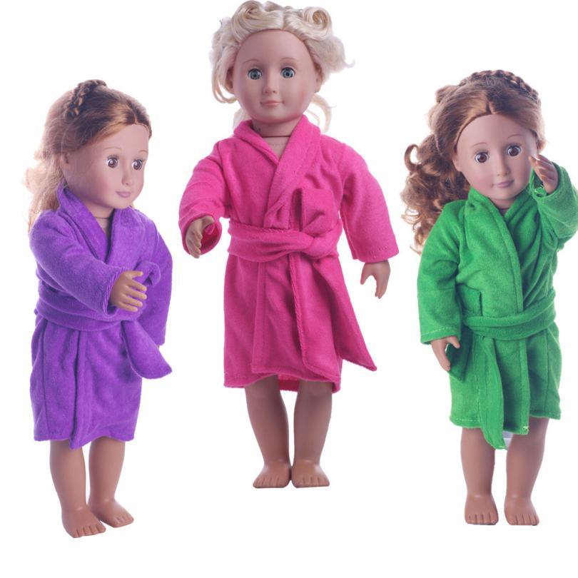 Образование Детские Симпатичные мягкие игрушки халат куклы халат подходит для 18 дюймов нашего поколения American Girl Куклы открытый best подарок ... ...