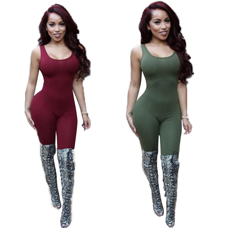 Backless Jumpsuit Body Tank Top Sexy Romper Bodysuits Plus Size ...