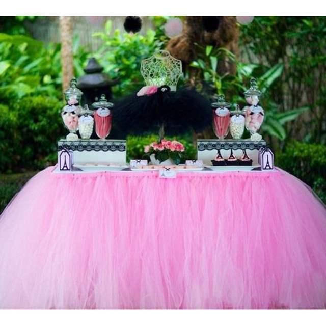 94f2dd111 € 21.29  Falda de mesa de tul para boda falda de mesa de fiesta de  cumpleaños en Faldas de mesa de Hogar y Jardín en AliExpress.com   Alibaba  ...