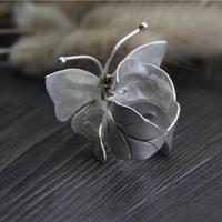 999 Sterling Silver Large Butterfly Ring 1