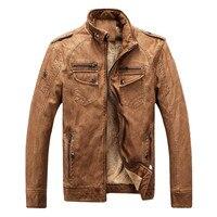 Gorący marki jakości Jesień I Zima mężczyzna skórzanej kurtki ciepłe oraz aksamitny płaszcz wypoczynek mężczyźni kurtka Wiatroszczelna PU skórzane motocyklowe