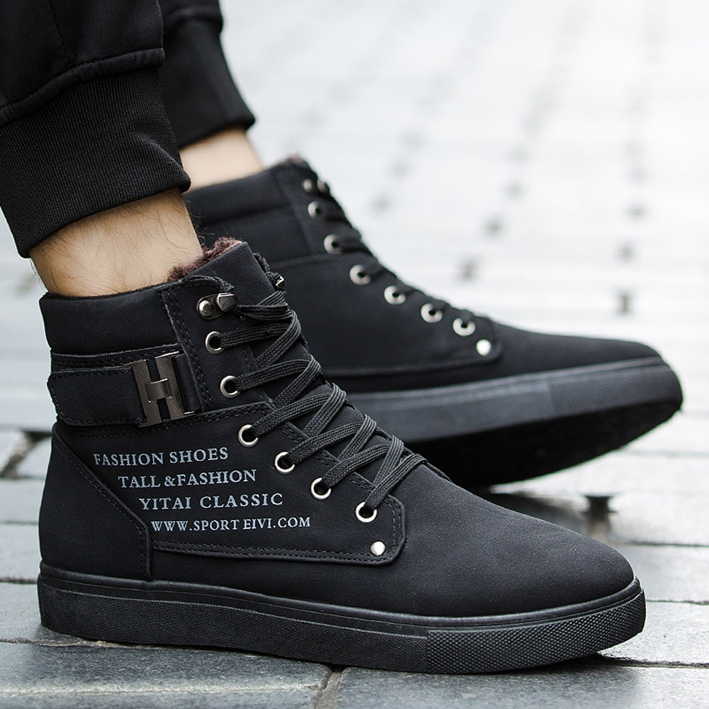 Basic Boots 2018 Winter Fur Warm Male Boots For Men Casual Shoes Work Adult Quality Walking Rubber Brand Safety Footwear Sneakers Nov21