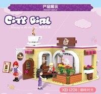 XINGBAO 12011 City Girls Series The Coffee Store Set building blocks bricks baby toys education model