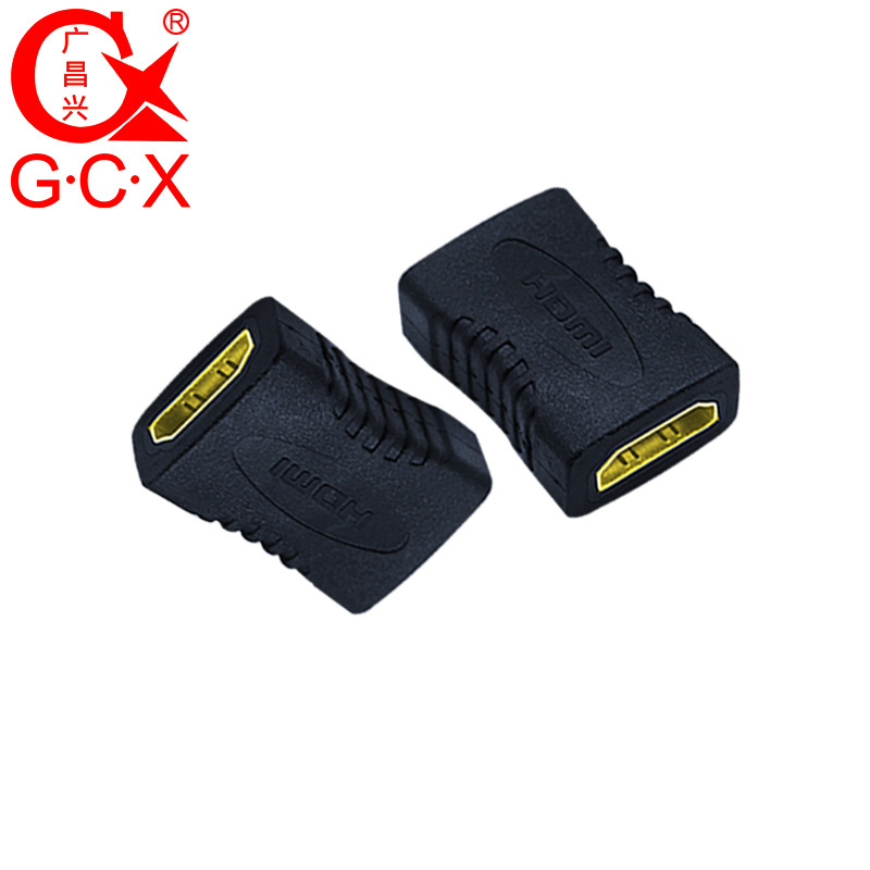 GCX Free Shipping HDMI Adapter Converter Female to Female 1080P High Resolution HDMI Cable Extension Coupler Connector-in Computer Cables & Connectors from Computer & Office