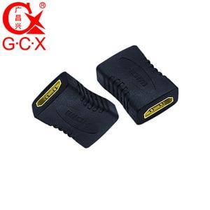 Image 2 - GCX משלוח חינם HDMI מתאם ממיר נקבה לנקבה 1080P ברזולוציה גבוהה HDMI כבל הארכת מצמד מחבר