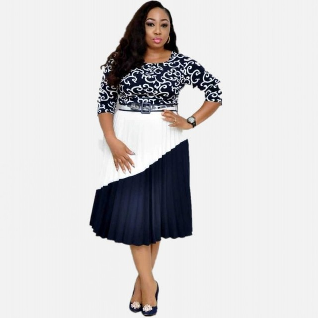 Offer L 3XL Plus Size Women African Dresses 2019 Elegent Fashion ...