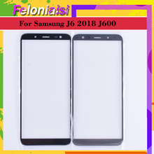 10Pcs/lot For Samsung Galaxy J6 2018 J600 J600F SM-J600F/DS SM-J600G/DS Touch Screen Outer Glass TouchScreen Lens Front Panel смартфон samsung galaxy j6 2018 sm j600 32gb black