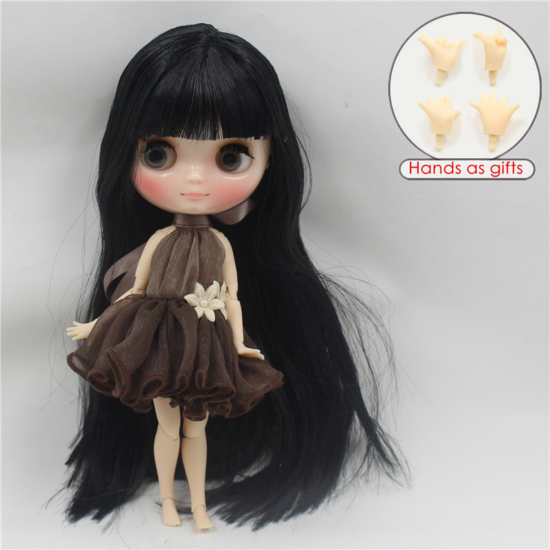 Free shipping middie doll 9601 fortune days black hair with bangs/fringes joint body 1/8 20cm bjd gift toy neo цена