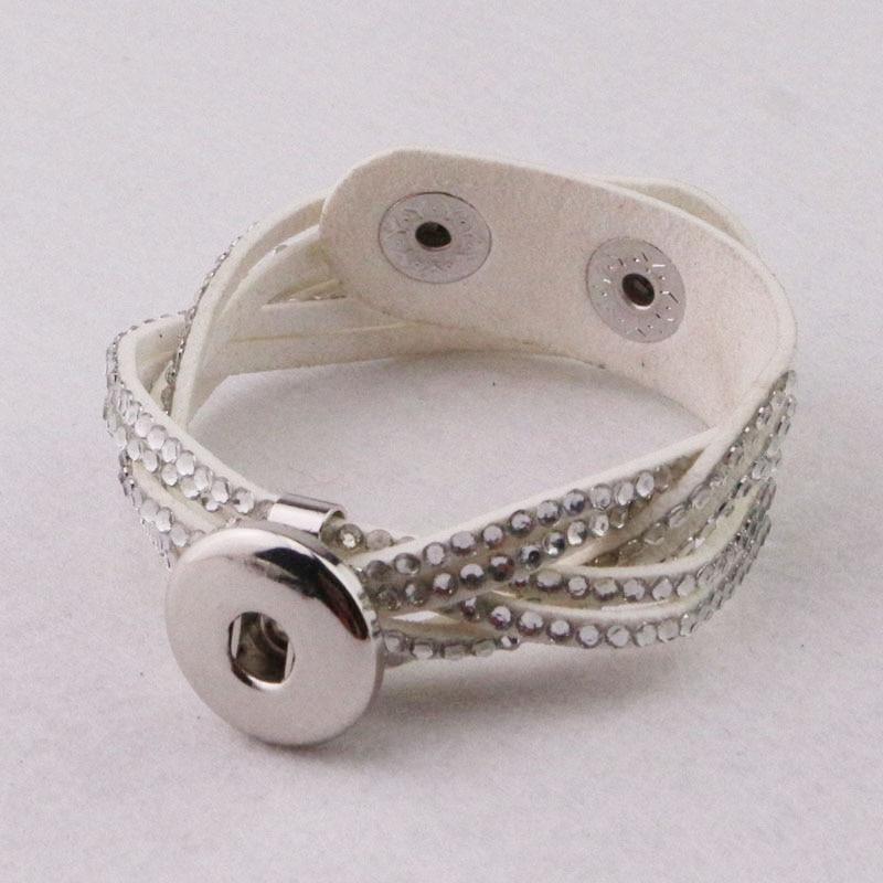 Ginger Snaps Jewelry Reviews >> Diy leather snap bracelet ginger snaps jewelry Korea Velvet 18mm button charm bracelets Fit DIY ...