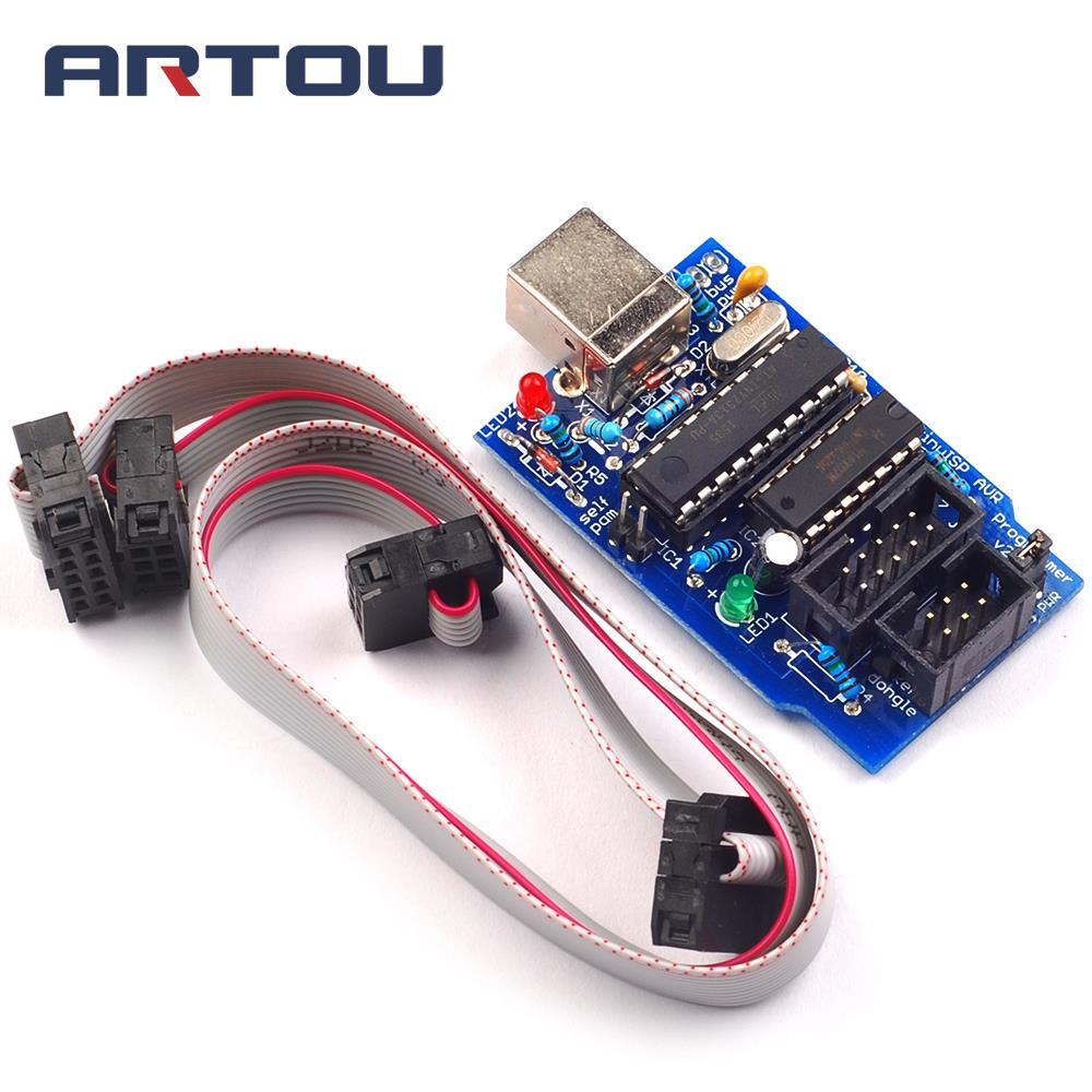 New Usbtinyisp V20 Avr Isp Programmer For Bootloader In Integrated Atmel Usb Circuit Zif Socket Usbasp Atmega8 2