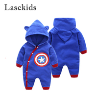 Newborn   Baby   Jumpsuit Fleece   Rompers   Captain America Outfit   Baby   Boy Clothing New Born   Romper   Clothes Costume Overalls Winter