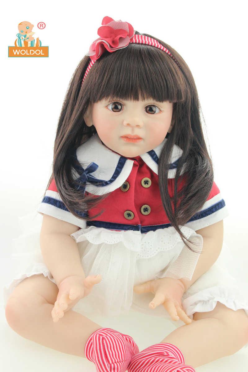 Woldol новый дизайн 24 дюйма младенец получивший новую жизнь baby doll фридолин реалистичные sweet girl реального нежное прикосновение