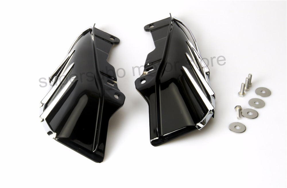 Motorcycle Mid-Frame Air Deflector cover For Harley Touring Road King Electra Street Glide 09-Up pair air deflector windshield side wings dark tint smoke for harley electra glide road kingstreet glide motorcycle