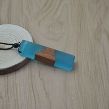 Vintage Fashionable Wood Resin Necklace