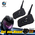 Lexin recentes 2016 r6 capacete interfone 1200 m motocicleta do bluetooth interfone headset 6 pilotos intercomunicador do capacete da motocicleta