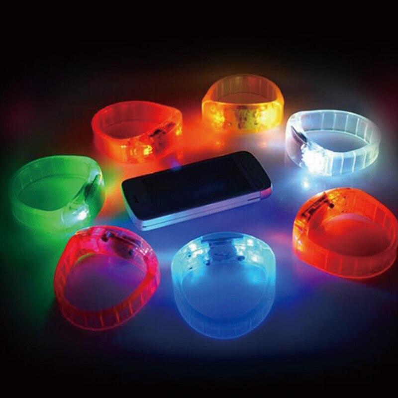 Röststyrning blinkande armband mini ledd ljus led armband - Semester och fester - Foto 3