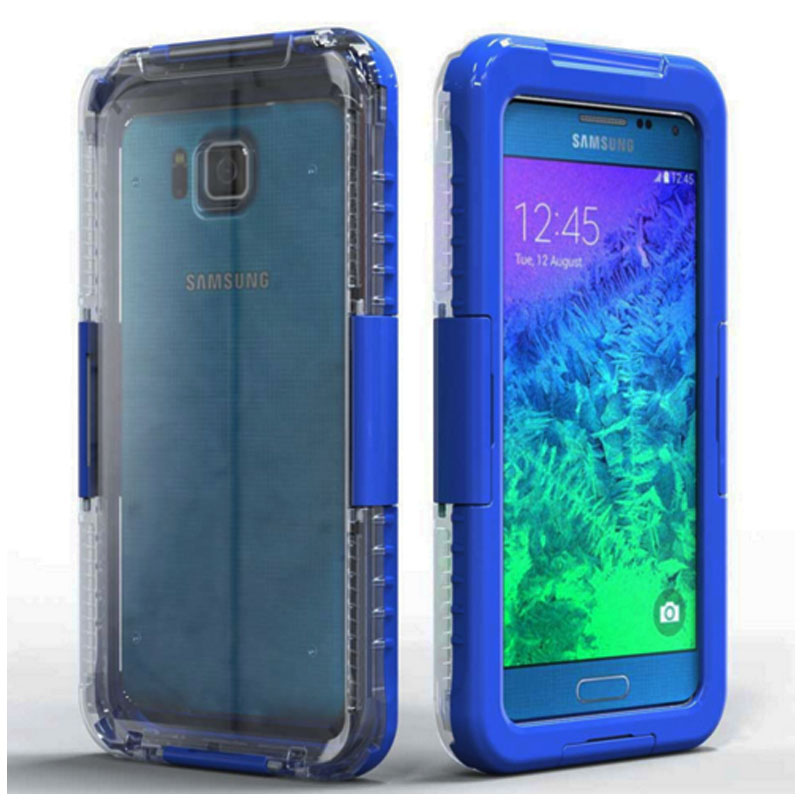2016 For Samsung Galaxy Alpha SM G850F G850 Smart Touch Case Flip Leather Wallet View Window