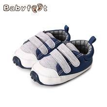 Babyfeet Fashion Boy First Walkers Soft Canvas Shoes Girls Non Skid Rubber Bottom Single Shoes For Babies Gifts