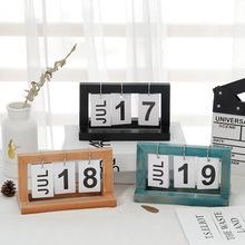 2018 odliczanie mały kalendarz alfanumeryczny dekoracji kreatywny Diy drewniane przerzucanie tabeli kalendarz kalendarz biurkowy tanie i dobre opinie Drewna HLPKC