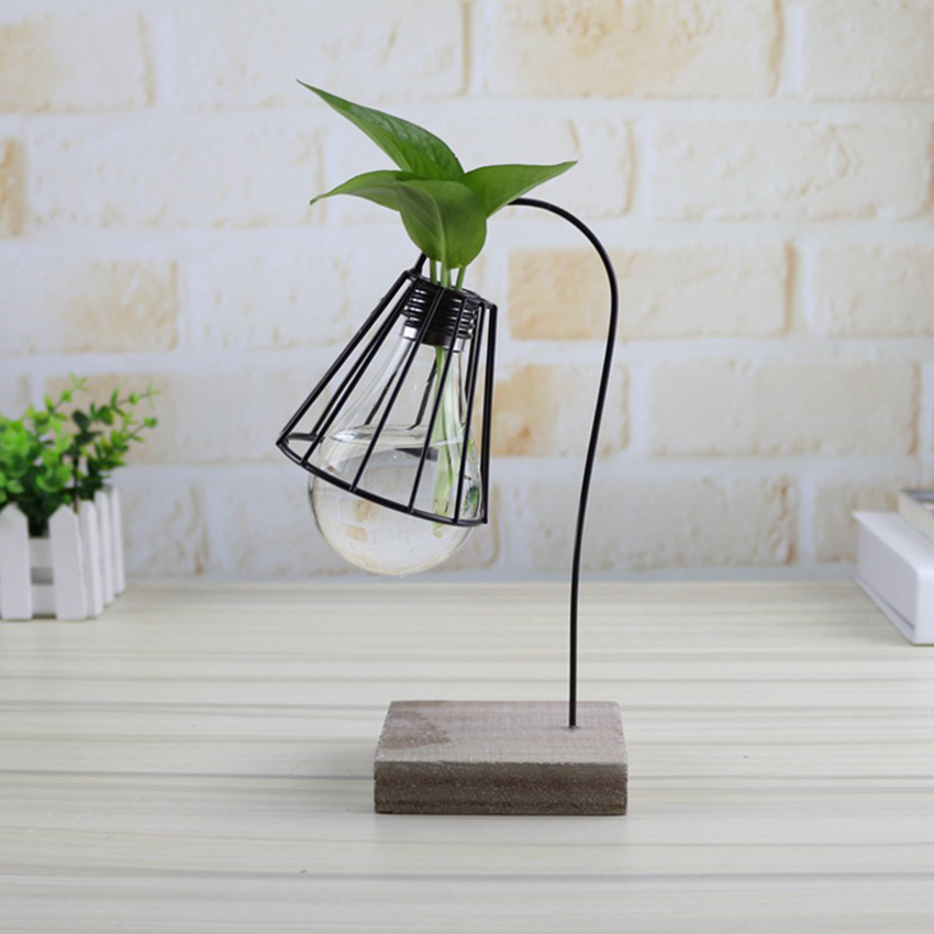 Youe shone Flower Water Plant Hanging Vase Hydroponic Container Glass Bulb Creative VaseHome Office Wedding Decoration