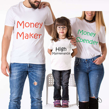 Family Look Matching Clothes Cotton Short Sleeve T-Shirt For Mother Daughter And Father Son Spender Maker Letter Printed Outfits