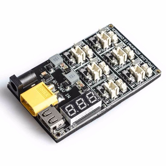 AKK 1S LiPo LiHV Battery Charge Board Micro JST 1.25 and JST-PH 2.0 for Blade Inductrix Tiny Whoop