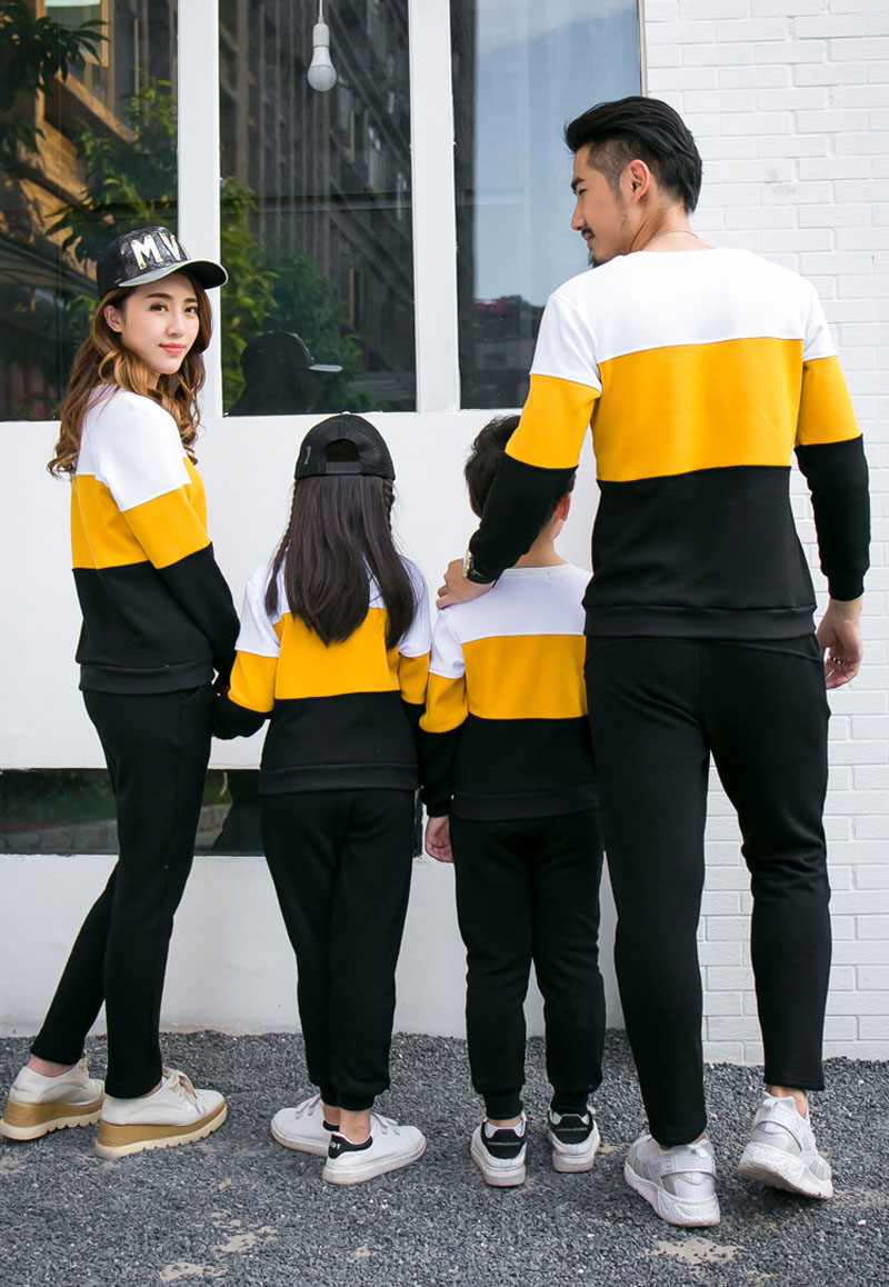 Family Matching Long Sleeves TShirt Pants | Father Son Mother Daughter Clothes Set