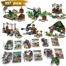 compatible legoinglys military WW2 Luchtverdediging veldtroepen Modelleer figuren uit de architectuur met wapenspeelgoed voor kinderen cadeau
