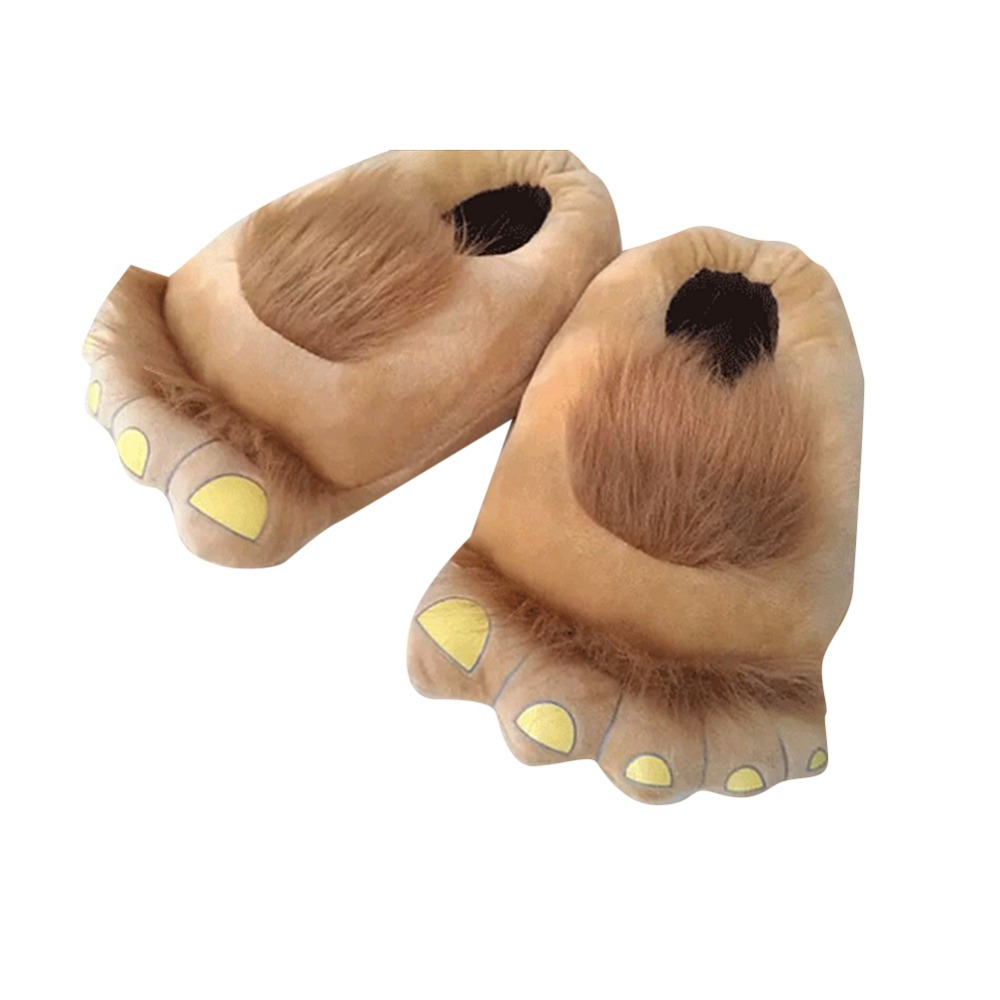 Furry Monster Adventure Slippers Comfortable Novelty Warm Winter Hobbit Feet Slippers For Adults Halloween Cosplay