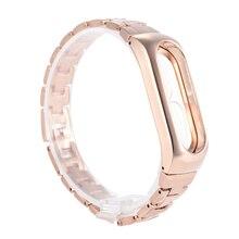 steel strap for Xiaomi mi 2 band bracelet belt for Xiaomi miband 2 strap alternative screen oled black gold silver bracelets