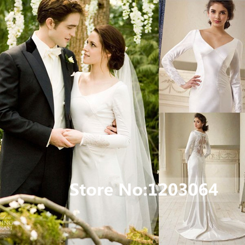 Kristen Stewart Twilight Bella Swan Breaking Dawn Wedding Dress V ...