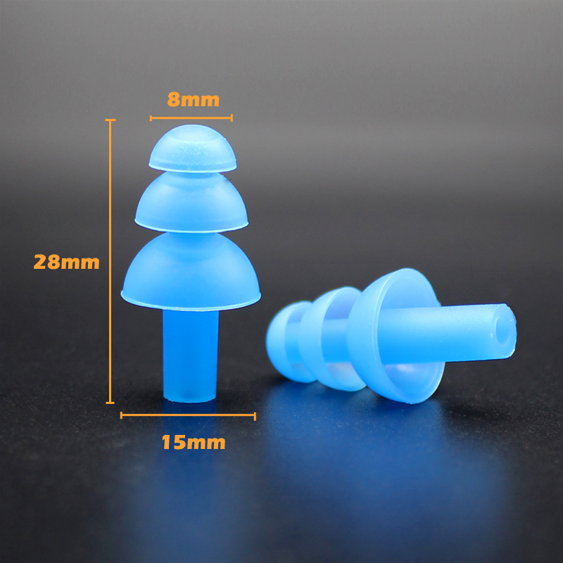 Soft Silicone Earplugs Reusable Ear Plugs Sleep Swimming Work Noise reductionPVC