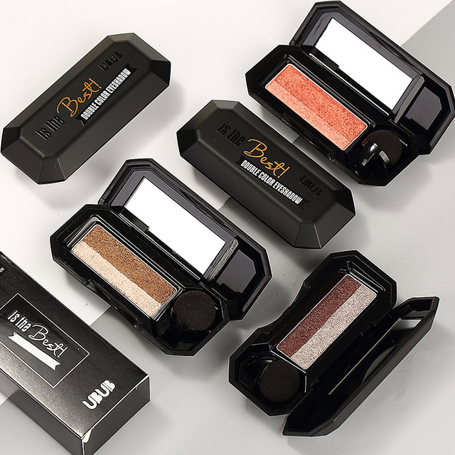 Waterproof Pigment Double Color Shimmer Nude Eyeshadow