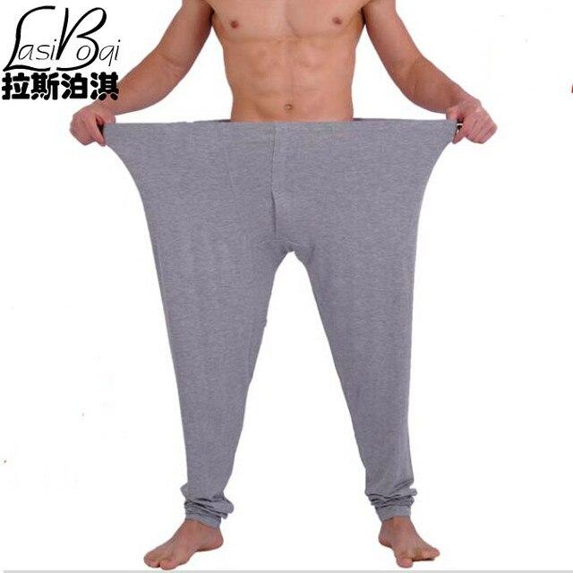 2016 дешевые новая мода sexy Г-Н мужская плюс размер мужской хлопка лонг джонс модальные тонкие теплые брюки underwear очень большой размер трусы