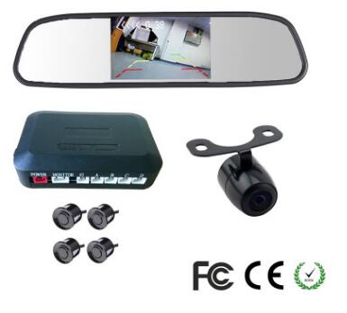 car detection 4 sensor bumper rear radar car camera parking monitor reversing aid video for Toyota parking sensor security syste