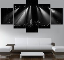 5 Piece Canvas Painting Lil Peep Music Poster Canvas Wall Art Home Decor For Living Room Unique Gift Wall Picture(China)