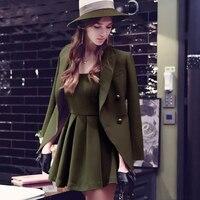 Оригинальный 2017 брендовый костюм для женщин; Большие размеры весна тонкий элегантный Повседневное Армейский зеленый Блейзер Для женщин