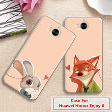 Case For Huawei Honor Enjoy 6 H60-L03 L02 L01,19 Colors,High-quality Silicone Case,Shiny Jelly Silicone Back Cover Case!Red Fox.(China)