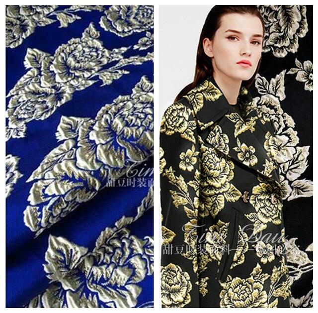 32f90b6dca 140 cm róża tkanina żakardowa miernik ostry sukienka rose tkanina kurtka  diy poliester tkaniny hurtownia żakardowe