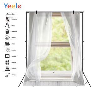 Image 2 - Yeele Window White Curtain Frame Wood Interior Scene Photography Backgrounds Customized Photographic Backdrops for Photo Studio