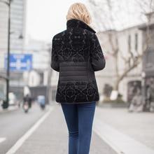 MS VASSA Women jacket 2017 fashion Autumn Winter ladies casual jacket with flock turn-down collar plus size S – 7XL outerwear