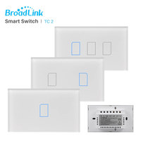 Broadlink TC2 US/AU Touch Light Switch 1 2 3 Gang RF433 Wireless Connection Option Smart Home Automation WiFi Remote Control