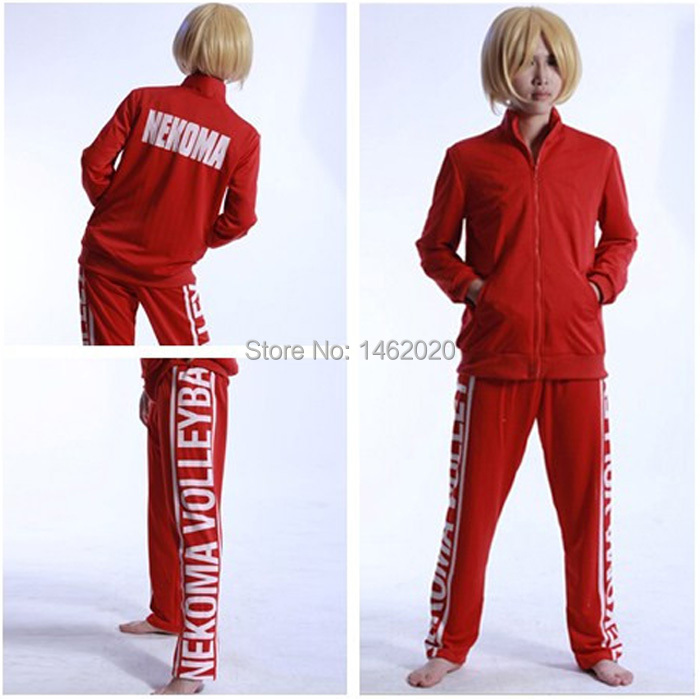 Haikyuu!! Cosplay Costume NEKOMA lycée Volley ball équipe unisexe veste manteau + pantalon Long Costume de sport uniforme