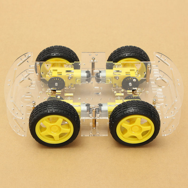 4WD Smart Robot Car Chassis Kits With Strong Magneto Speed Encoder For Arduino 5