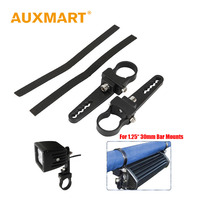 Auxmart 1 25 30mm Bull Bar Clamps Mounting Brackets Driving Roll Led Work Light For Jeep