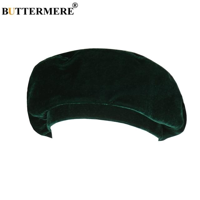 BUTTERMERE Berretto Verde Donne In Velluto Morbido Pittori Cappello Delle  Signore Solid Carino Artista Francese Cap Classico Autunno Inverno Berretti  ... da6c34915dc6