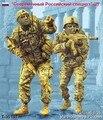 1:35 escala Moderna Forças Especiais Russas 2 pessoas Kit de miniaturas de Resina Modelo figura Frete Grátis
