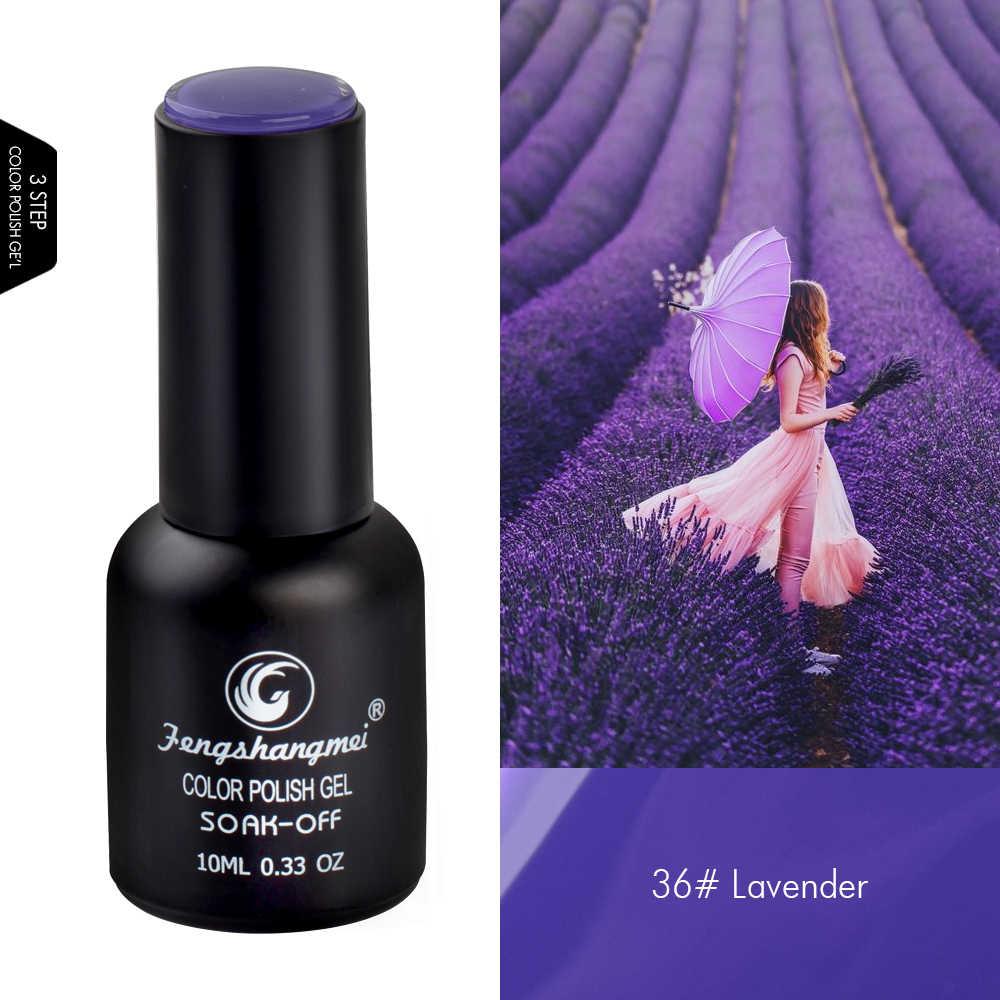 Fengshangmei 10ml UV ג 'ל לק חם ציפורניים ג' ל נייל ארט נייל הפולני UV ג 'ל מניקור פופולרי לכה
